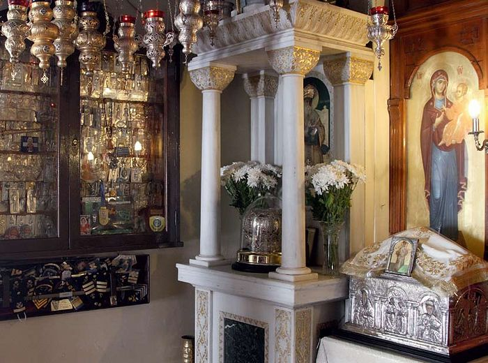 Relics of St. Nektarios and gifts of gratitude from pilgrims