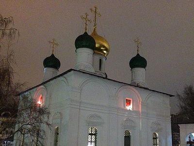 Всенощное бдение в Сретенском монастыре накануне 30-й Недели по Пятидесятнице, святых отец