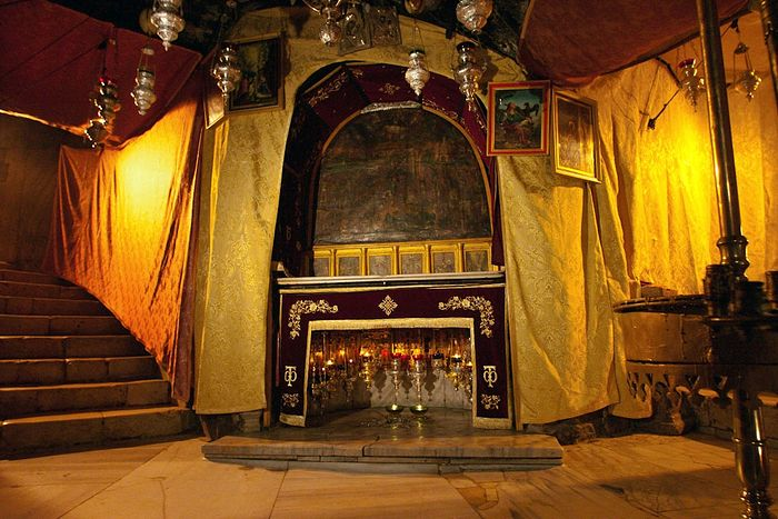 The Altar of the Nativity of Christ and the Grotto of Nativity. Photo: astrosurf.com