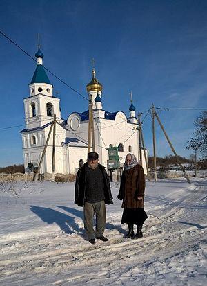 Храм, восстановленный в наши дни по благословению старца Илия в деревне Яковлево, где его в младенчестве крестили.