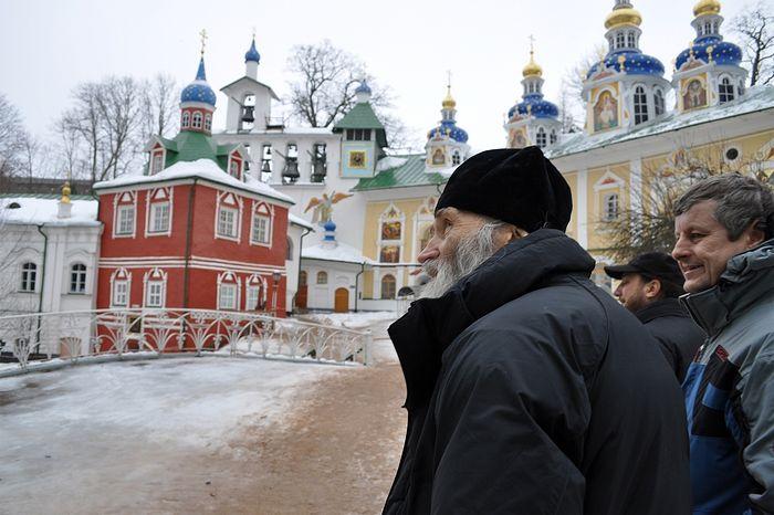 Схиархимандрит Илий в Псково-Печерском монастыре. Фото Алексей Ловен.