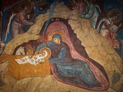 Богослужение на Рождество Христово в Сретенском монастыре