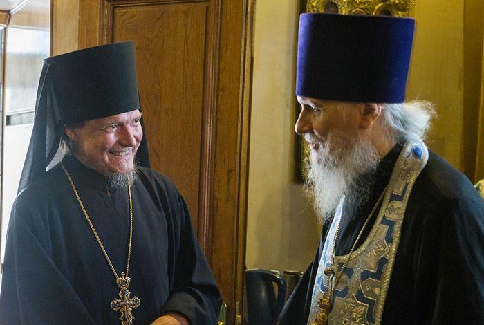 Архимандрит Дионисий (Шишигин) и протопресвитер Владимир Диваков