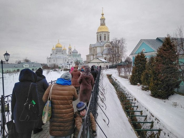 Diveyevo. Walking along the Canal of the Mother of God.