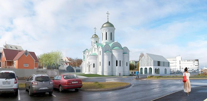 The future St. Nicholas Church. Photo: www.orthodox.is