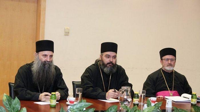 Митрополит загребачко-љубљански Порфирије и Епископ далматински Никодим