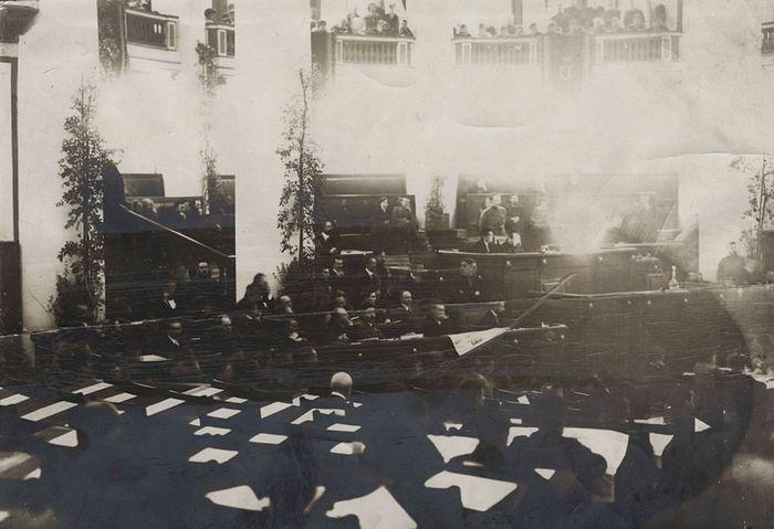 Заседание Учредительного собрания в Таврическом дворце 5–6 января 1918 г.