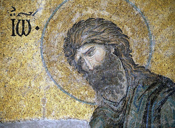 Святой Иоанн Креститель. Мозаика. Византия. XIII век. София Константинопольская