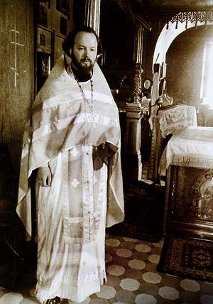 В Покровском храме Акулово. 1970-ые годы