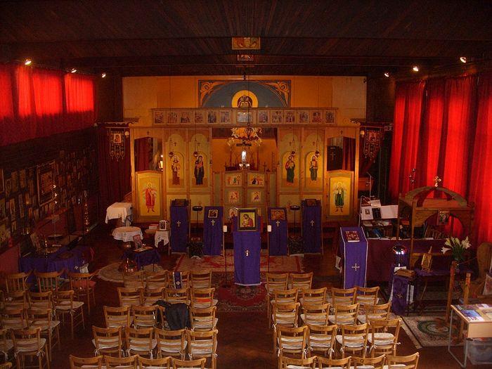Inside St. Aidan's Church.