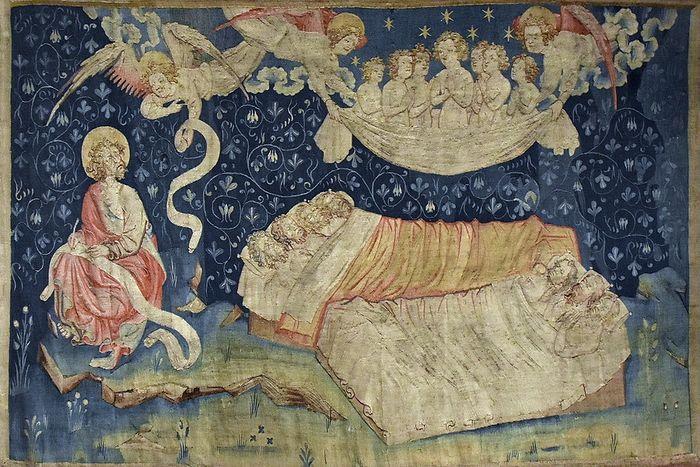 Сон справедливых. Сцена из Ковра Апокалипсиса (XIV в.)
