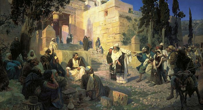 Christ and the Sinner Woman by Vasily Polenov. 1888.