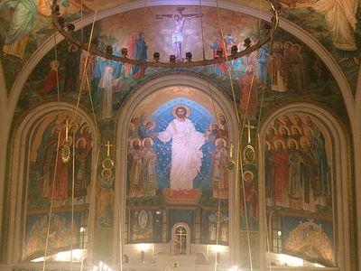 Божественная литургия в Сретенском монастыре в Неделю о мытаре и фарисее