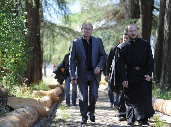V.Putin on Valaam. Photo: putin.kremlin.ru