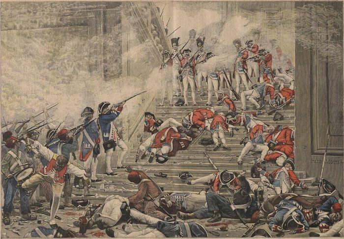 Штурм дворца Тюильри 10 августа 1792 г.