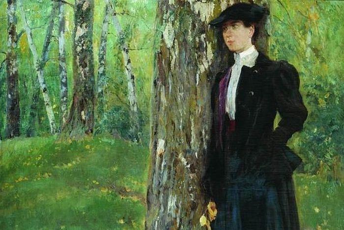 Николай Чехов. Молодая вдова на могиле мужа