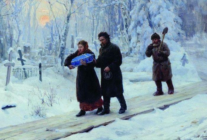 Николай Ярошенко. Похороны первенца. 1893