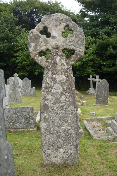 Ancient cross in the churchyard of St. Breward church, Cornwall (source - Stbrewardchurch.co.uk)