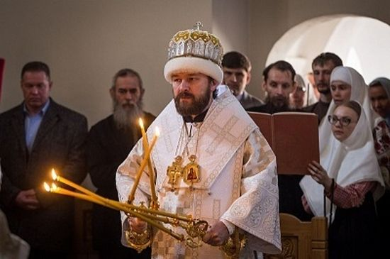 Met. Hilarion serving according to the Old Rite. Photo: ruvera.ru