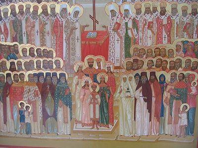 Божественная литургия в Сретенском монастыре в неделю о блудном сыне, в день собора новомучеников и исповедников церкви русской