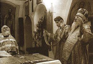 Митрополит Иоанн в Никольской церкви Федоровского собора