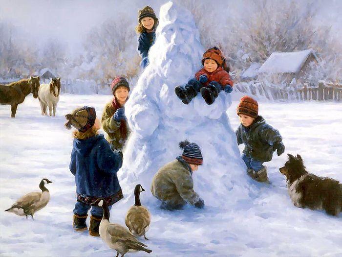 Роберт Дункан. «Добрый дедушка-снеговик». 1952.
