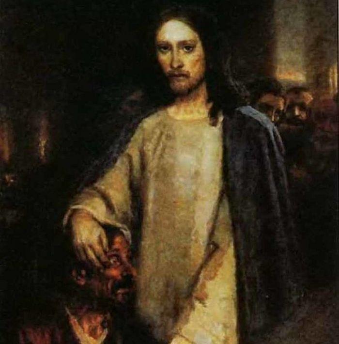 Исцеление слепорожденного Иисусом Христом (1888)