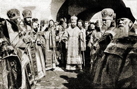 Митрополит Владимир (Богоявленский) в Лужецком монастыре, 1908 г.