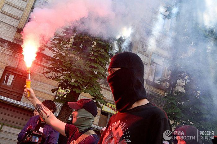Акция националистов в Киеве. Фото: РИА Новости / Стрингер