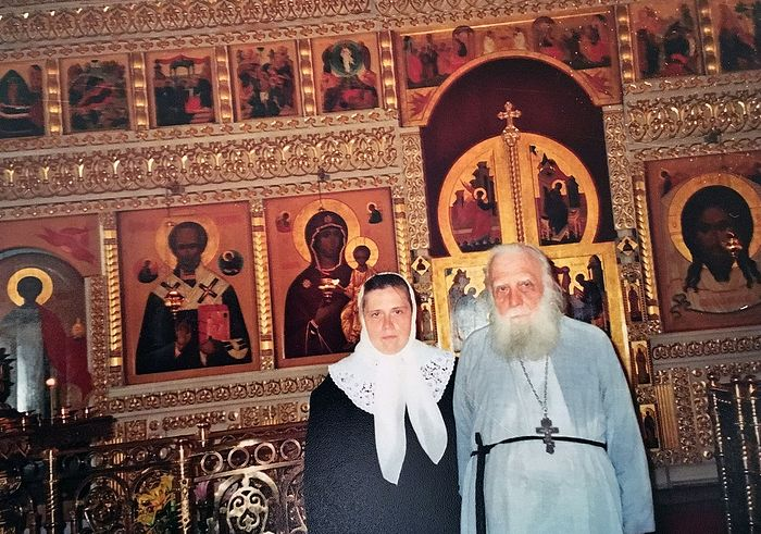 Fr. Alexei with his younger daughter Olga.