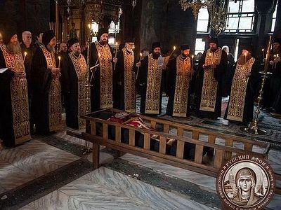 На Афоне состоялось погребение старца Кирилла Хиландарского