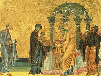 Всенощное бдение в Сретенском монастыре накануне Сретения Господня
