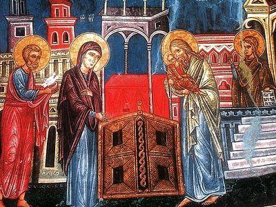 Божественная литургия в Сретенском монастыре на Сретение Господне