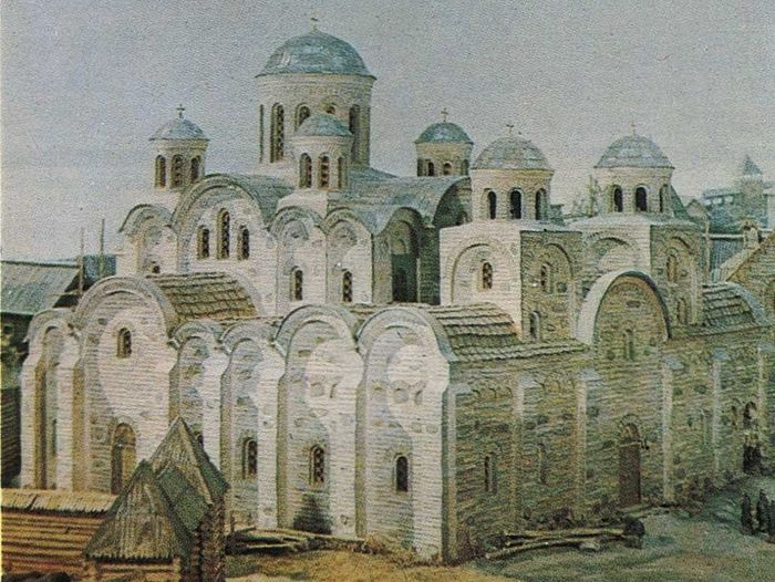 The reconstruction of the tenth-century Cathedral of the Tithes.