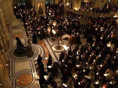 Вечернее богослужение в Сретенском монастыре во вторник первой седмицы Великого поста