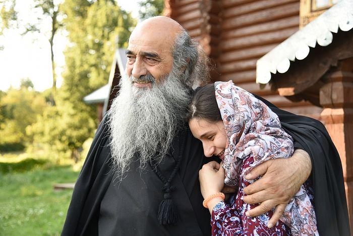 Матушка София с отцом Илиодором
