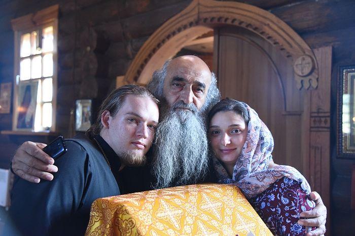 С отцом Илиодором в храме в Подборках