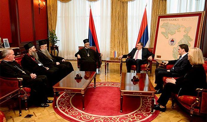 Додик са представницима СПЦ (фото:predsjednikrs.net)