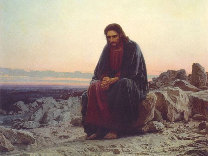 I. N. Kramskoy. Christ in the Desert. 1873. Oil on canvas.