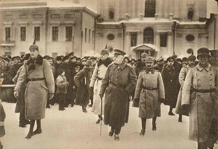 Прибытие германской делегации в Брест-Литовск