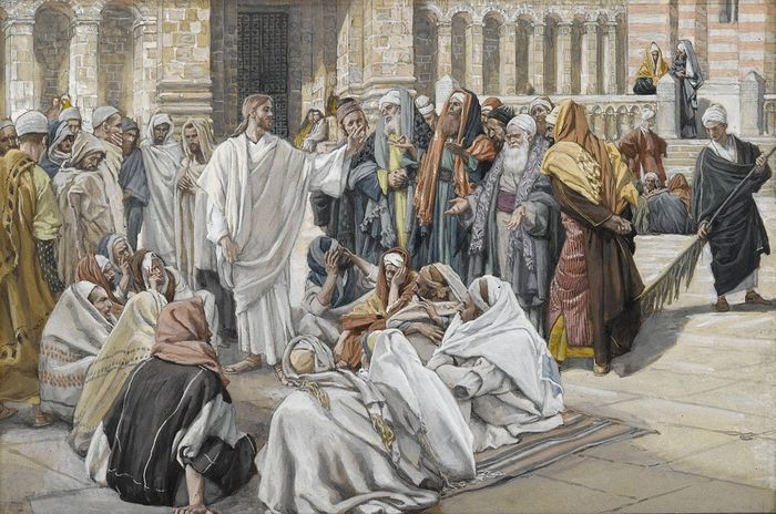 Иисус и фарисеи. Художник Джеймс Тиссо