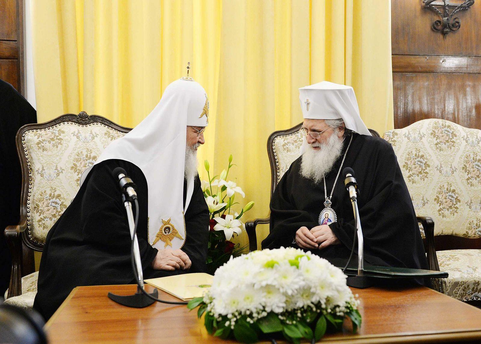 Состоялась встреча Патриарха Кирилла с Патриархом Болгарским Неофитом и членами Синода Болгарской Православной Церкви