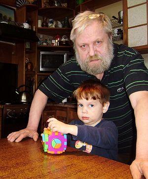 Дмитрий Достоевский с внуком Федей