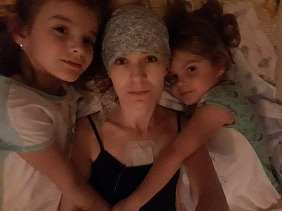 Elena with her daughters Arina and Anna