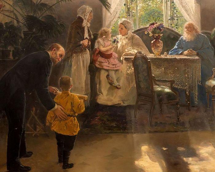 Бабушкин праздник. 1893. Корзухин Алексей Иванович, 1835–1895