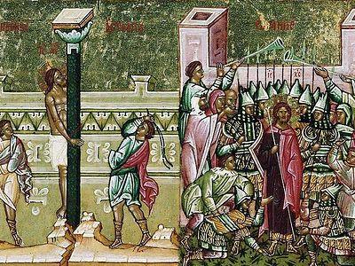 Вечернее богослужение в Сретенском монастыре в Неделю 3-ю Великого поста, Крестопоклонную