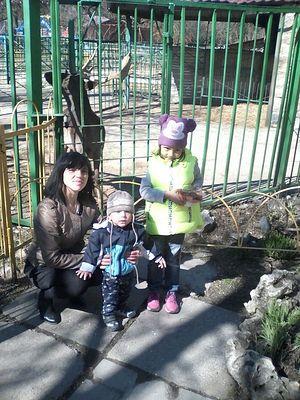 Зоя с детьми