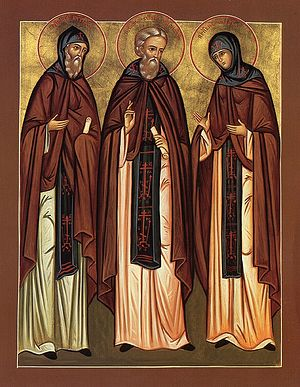 The Venerable Sergius of Radonezh with his parents—Sts. Kirill and Maria.