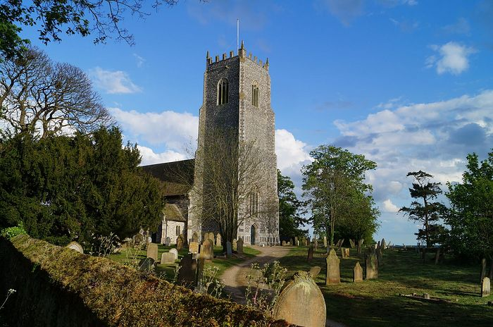 Exterior of the John the Baptist's Church in Reedham, Norfolk (photo kindly provided by the churchwarden of Reedham church)