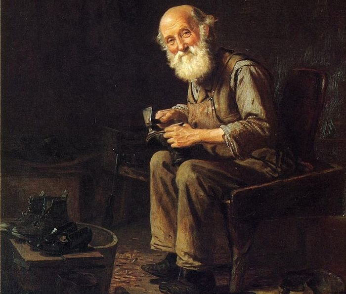 The Village Cobbler. John George Brown.